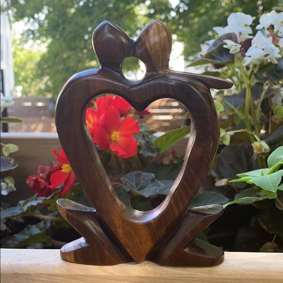 None Other - Wooden heart sculpture